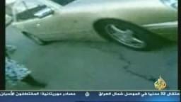 مستوطن صهيونى مجرم يدهس بسيارتة فلسطينى عدة مرات ولا احد يتحرك