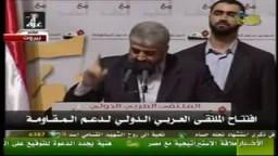 خالد مشعل- لا سلم إلا اذا تعادلت القوى