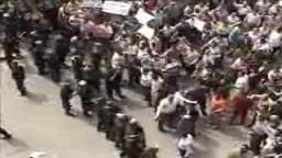 اعتداءالامن علي متظاهري مدينة طنطا