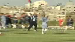 هدف القائد اسماعيل هنية في مباراة افتتاح ملعب بغزة