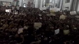 مظاهرة مسجد الفتح بميدان رمسيس  إحتجاجاً على ضرب اسطول الحرية