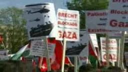 مظاهرة في ألمانيا للتنديد بالاعتداء  الصهيوني على اسطول الحرية