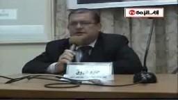 شكر الدكتور حازم فاروق  لأهل الإسكندرية على ما قاموا به ضد المجزرة الصهيونية