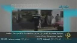 الجزيرة مباشر .. تذيع جريمة ضرب بنات الإخوان في الجامعة على يد ضباط الشرطة