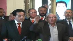 المؤتمر الصحفى الاول للدكتور ايمن نور مؤسس حزب الغد عقب خروجة من السجن حصريا على اخوان تيوب ج1