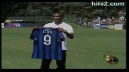 تقديم اللاعب إيتو بالقميص رقم 9 للنادي إنتر ميلان