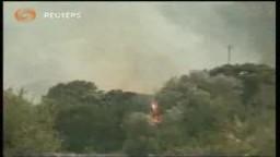 اندلاع الحرائق فى احد الغابات الايطالية