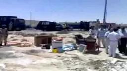 بالفيديو.. الاستيلاء على أرض مواطن بالقوة بمطروح