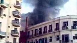 حريق مباني في وسط القاهرة