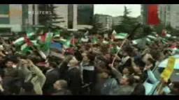 مظاهرات في تركيا أمام سفارة الكيان الصهيوني احتجاجا على اقتحام المسجد الأقصى