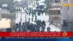 مواجهات فى مدينة أم الفحم داخل الخط الأخضر بسبب خطط جماعات يهودية متطرفة للتظاهر ضد الحركة الإسلامية