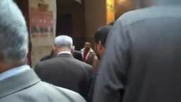 فضيحة غلق قسم اول شبرا الخيمة فى وجة الدكتور محمد البلتاجى مرشح الإخوان المسلمين بشبرا من اجل عدم منحه التوكيلات