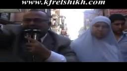 مرشحى الإخوان عبد الله مصباح وفاطمة موسى عقب تصدى الامن لمسيرتيهما