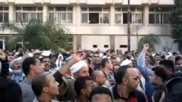 مظاهرات فى السويس إحتجاجاً على تزوير الانتخابات