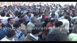 مسيرة كبري لمرشح الإخوان بدمياط صابر عبد الصادق بعد إعلان النتيجة والإعادة بينة وبين مرشح الوطنى
