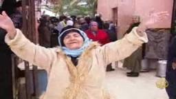 شاهد الاحتلال الصهيوني يهدم منازل فلسطينية ويطرد أهلها  في مواجهة العواصف