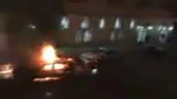مشاهد التفجيرات أمام كنيسة بالأسكندرية