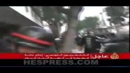 حالة مطار تونس بعد هروب الرئيس التونسى بن على