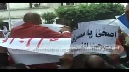 مظاهرة نشطاء دمياط للتضامن مع شعب تونس الشقيق
