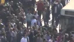 مظاهرات 25 يناير فى شارع رمسيس وأمام جريدة الجمهورية
