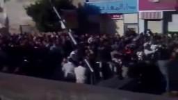 مظاهرات 25 يناير وهتافات ضد النظام الحاكم فى مصر