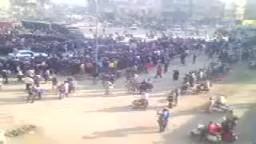 ثاني فيديو من المحلة  - يوم الغضب25 يناير