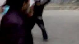طنطا - مظاهرة الغضب  , الشرطة تقوم بإلقاء القنابل و رفض المتظاهرين الرد بالحجارة
