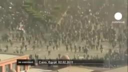 إعتداءات بلطجية الحزب الوطنى ونظام مبارك تسفر عن 3 شهداء و أكثرمن 1500 جريح