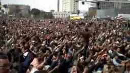 مشهد من ميدان التحرير في جمعة الرحيل