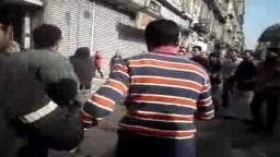 أحد شهداء الثورة فى المنشية برصاص الشرطة المصرية