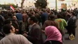 خروج  آلاف المتظاهرين إلى مقر الحكومة المصرية