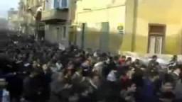 مظاهرات بمئات الآلاف بشبين الكوم بمحافظة المنوفية تدعو برحيل مبارك