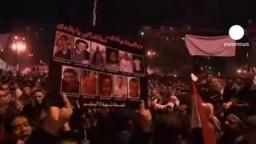 مصر 11 فبراير بعد خطاب مبارك وسليمان المتظاهرون يتوجهون للقصر الجمهورى