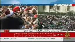 جمعة الإصرار والتحدى من ميدان التحرير .. خطبة الجمعة من الميدان