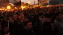 لحظة تنحى الرئيس مبارك فى ميدان التحرير
