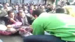 احد شهداء الثورة فى المنشية برصاص الشرطة المصرية