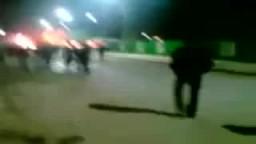 مظاهرات ليبيا وحرق سيارات الشرطة