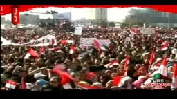 هتافات وإحتفالات أكثر من ثلاثة ملايين مصرى بميدان التحرير فى جمعة النصر