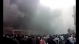 فيديو ..يظهر حريق وزارة الداخلية علي يد امناء شرطة مفصولين