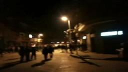 شاهد : المتظاهرون يحتجون على طرد الجيش لهم من التحرير