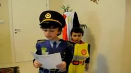 طفل يقرأ بيان تنحي مبارك..مضحك جدا