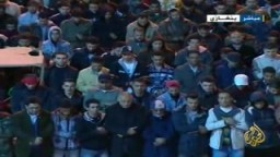 صلاة الجنازة على مصور قناة الجزيرة فى بنغازى الشهيد علي الجابر الذى اغتالته قوات القذافى