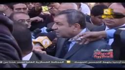 رئيس الوزراء الدكتور عصام شرف من أمام لجنة الاستفتاء بعد التصويت على التعديلات الدستورية