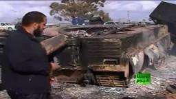 اثار الدمار للغارات الغربية على ليبيا بعد يومها الاول