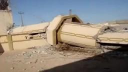 القذافي يقصف مأذنة مسجد الامام البخاري