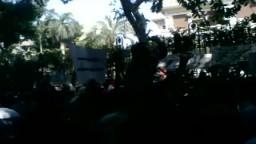 مظاهرة امام السفارة السورية بالقاهرة