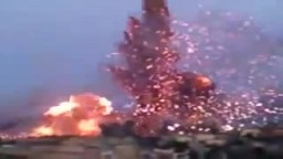 مشهد المعارك الضارية فى البريقة _ ليبيا