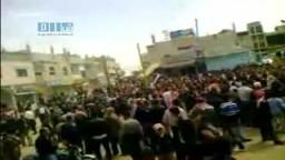 سوريا - مدينة جاسم - مظاهرات الجمعة 8 أبريل ضد النظام السورى المستبد