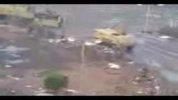 ميدان التحرير صباح اليوم واستعداد فرق الجيش للرحيل قبل دخول المتظاهرين الي الميدان مرة اخرى