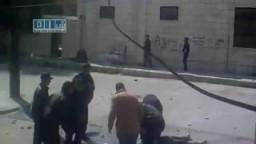 شاهدوا الاعتداء على الجرحى خلف المشفى الوطني في درعا من قبل قوات الأمن
